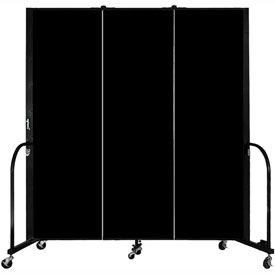 "Screenflex Portable Room Divider - 3 Panel - 6'H x 5'9""L -  Charcoal Black"