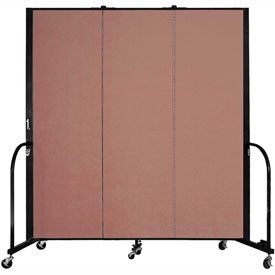 "Screenflex Portable Room Divider - 3 Panel - 6'H x 5'9""L -  Cranberry"