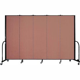 "Screenflex Portable Room Divider - 5 Panel - 6'H x 9'5""L -  Cranberry"