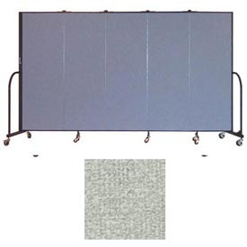 "Screenflex 5 Panel Portable Room Divider, 6'H x 9'5""L, Vinyl Color: Mint"