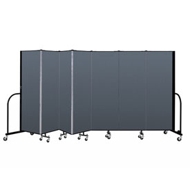 "Screenflex Portable Room Divider - 7 Panel - 6'H x 13'1""L - Lake"
