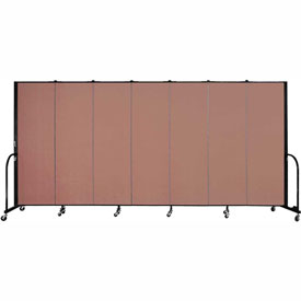 "Screenflex 7 Panel Portable Room Divider, 6'H x 13'1""L, Fabric Color: Cranberry"