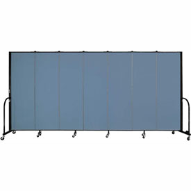"Screenflex 7 Panel Portable Room Divider, 6'H x 13'1""L, Fabric Color: Blue"