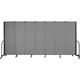 "Screenflex Portable Room Divider - 7 Panel - 6'H x 13'1""L - Grey"