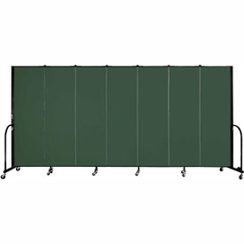 "Screenflex Portable Room Divider - 7 Panel - 6'H x 13'1""L - Green"