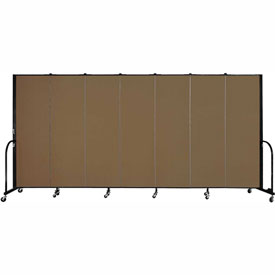 "Screenflex Portable Room Divider - 7 Panel - 6'H x 13'1""L - Oatmeal"