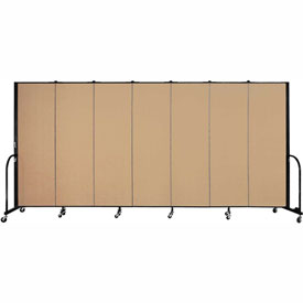 "Screenflex 7 Panel Portable Room Divider, 6'H x 13'1""L, Fabric Color: Wheat"