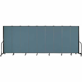 "Screenflex 9 Panel Portable Room Divider, 6'H x 16'9""L, Fabric Color: Lake"