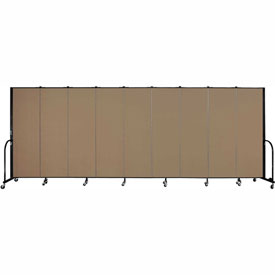 "Screenflex Portable Room Divider - 9 Panel - 6'H x 16'9""L - Beech"