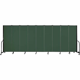 "Screenflex Portable Room Divider - 9 Panel - 6'H x 16'9""L - Green"