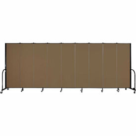 "Screenflex 9 Panel Portable Room Divider, 6'H x 16'9""L, Fabric Color: Oatmeal"