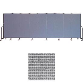 "Screenflex 9 Panel Portable Room Divider, 6'H x 16'9""L, Vinyl Color: Mint"
