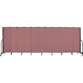 "Screenflex 11 Panel Portable Room Divider, 6'8""H x 20'5""L, Fabric Color: Rose"