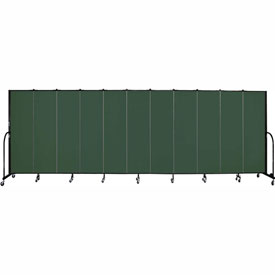 "Screenflex 11 Panel Portable Room Divider, 6'8""H x 20'5""L, Fabric Color: Mallard"