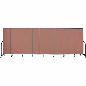 "Screenflex 11 Panel Portable Room Divider, 6'8""H x 20'5""L, Fabric Color: Cranberry"