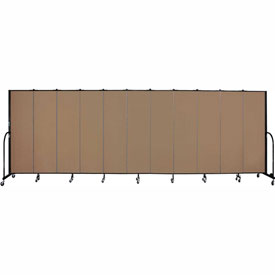 "Screenflex 11 Panel Portable Room Divider, 6'8""H x 20'5""L, Fabric Color: Beech"