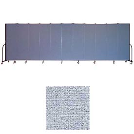 "Screenflex 11 Panel Portable Room Divider, 6'8""H x 20'5""L, Vinyl Color: Blue Tide"