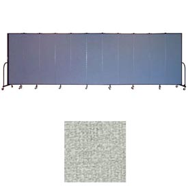 "Screenflex 11 Panel Portable Room Divider, 6'8""H x 20'5""L, Vinyl Color: Mint"