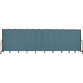 "Screenflex 13 Panel Portable Room Divider, 6'8""H x 24'1""L, Fabric Color: Lake"