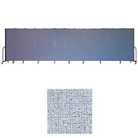 "Screenflex 13 Panel Portable Room Divider, 6'8""H x 24'1""L, Vinyl Color: Blue Tide"
