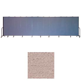 "Screenflex 13 Panel Portable Room Divider, 6'8""H x 24'1""L, Vinyl Color: Raspberry Mist"