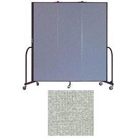 "Screenflex 3 Panel Portable Room Divider, 6'8""H x 5'9""L, Vinyl Color: Mint"