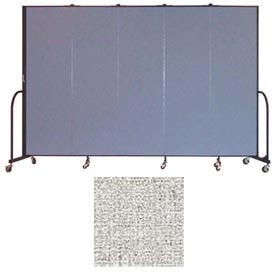 "Screenflex 5 Panel Portable Room Divider, 6'8""H x 9'5""L, Vinyl Color: Granite"