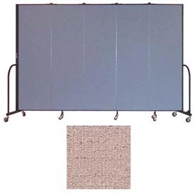 "Screenflex 5 Panel Portable Room Divider, 6'8""H x 9'5""L, Vinyl Color: Raspberry Mist"