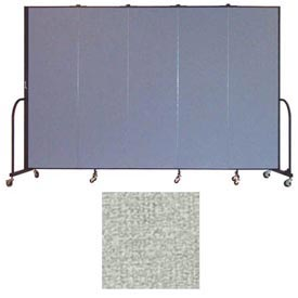 "Screenflex 5 Panel Portable Room Divider, 6'8""H x 9'5""L, Vinyl Color: Mint"