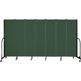 "Screenflex 7 Panel Portable Room Divider, 6'8""H x 13'1""L, Fabric Color: Mallard"