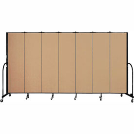 "Screenflex 7 Panel Portable Room Divider, 6'8""H x 13'1""L, Fabric Color: Desert"