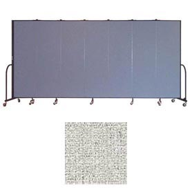 "Screenflex 7 Panel Portable Room Divider, 6'8""H x 13'1""L, Vinyl Color: Granite"