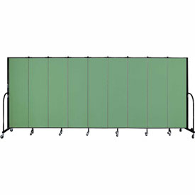 "Screenflex 9 Panel Portable Room Divider, 6'8""H x 16'9""L, Fabric Color: Sea Green"