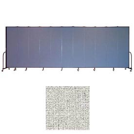 "Screenflex 13 Panel Portable Room Divider, 7'4""H x 24'1""L, Vinyl Color: Granite"