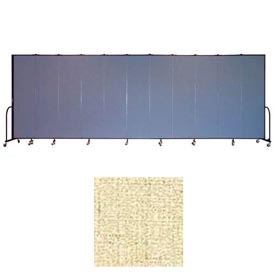 "Screenflex 13 Panel Portable Room Divider, 7'4""H x 24'1""L, Vinyl Color: Hazelnut"