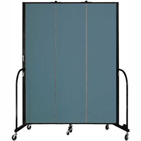 "Screenflex 3 Panel Portable Room Divider, 7'4""H x 5'9""L, Fabric Color: Lake"