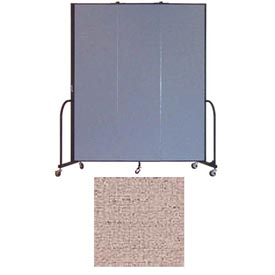 "Screenflex 3 Panel Portable Room Divider, 7'4""H x 5'9""L, Vinyl Color: Raspberry Mist"