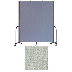"Screenflex 3 Panel Portable Room Divider, 7'4""H x 5'9""L, Vinyl Color: Mint"