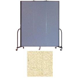 "Screenflex 3 Panel Portable Room Divider, 7'4""H x 5'9""L, Vinyl Color: Hazelnut"