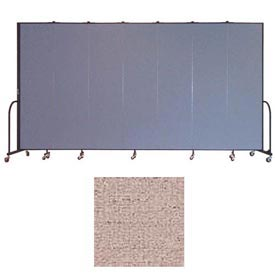 "Screenflex 7 Panel Portable Room Divider, 7'4""H x 13'1""L, Vinyl Color: Raspberry Mist"