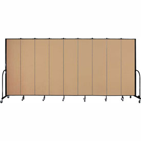 "Screenflex 9 Panel Portable Room Divider, 7'4""H x 16'9""L, Fabric Color: Desert"