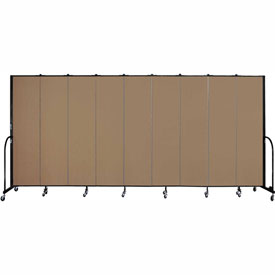 "Screenflex 9 Panel Portable Room Divider, 7'4""H x 16'9""L, Fabric Color: Beech"