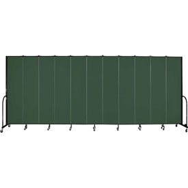 "Screenflex 11 Panel Portable Room Divider, 8'H x 20'5""L, Fabric Color: Mallard"