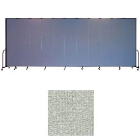"Screenflex 11 Panel Portable Room Divider, 8'H x 20'5""L, Vinyl Color: Mint"