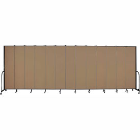 "Screenflex 13 Panel Portable Room Divider, 8'H x 24'1""L, Fabric Color: Beech"