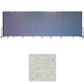 "Screenflex 13 Panel Portable Room Divider, 8'H x 24'1""L, Vinyl Color: Granite"