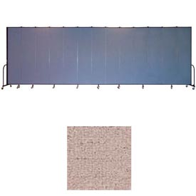 "Screenflex 13 Panel Portable Room Divider, 8'H x 24'1""L, Vinyl Color: Raspberry Mist"