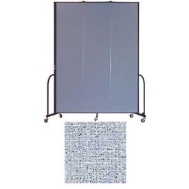 "Screenflex 3 Panel Portable Room Divider, 8'H x 5'9""L, Vinyl Color: Blue Tide"