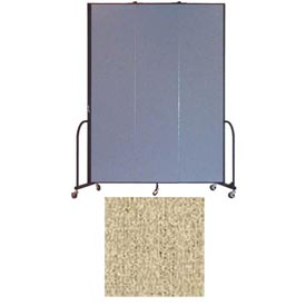 "Screenflex 3 Panel Portable Room Divider, 8'H x 5'9""L, Vinyl Color: Sandalwood"
