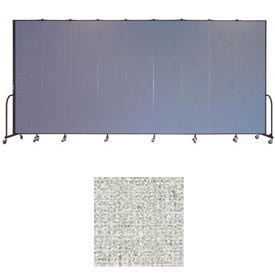 "Screenflex 9 Panel Portable Room Divider, 8'H x 16'9""L, Vinyl Color: Granite"